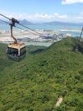 Hong- KongDrahtseilbahn lizenzfreies stockfoto