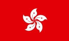 Hong- Kongflagge, offizielle Farben und proportionieren richtig Lizenzfreie Stockfotografie