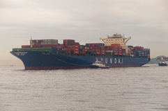 Hong- KongFrachtschiff Stockfoto