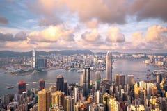 Hong- Konggrenzstein stockfotos