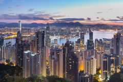 Hong- Konghöchstförderwagen Stockfoto