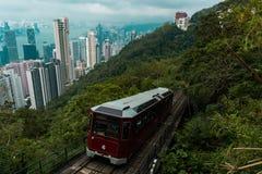 Hong- Konghöchstförderwagen lizenzfreies stockfoto