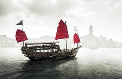 Hong- Konghafen stockfotografie
