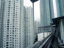 Hong- Konglebengebäudeansicht Lizenzfreie Stockfotos