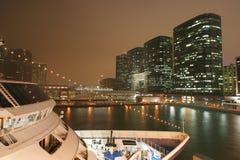 Hong- Kongnacht Stockbild