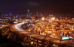 Hong- Kongnachtszene Stockfotos