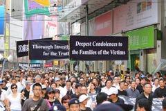 Hong- Kongprotest über Manila-Geisel-Todesfällen Lizenzfreies Stockbild