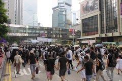 Hong- Kongprotest über Manila-Geisel-Todesfällen Stockfotografie