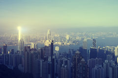 Hong Kongs Stadtlandschaft Stockbild