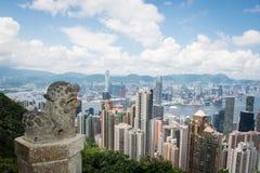 Hong- KongSkyline Lizenzfreie Stockbilder