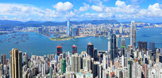 Hong- KongSkyline lizenzfreie stockfotografie