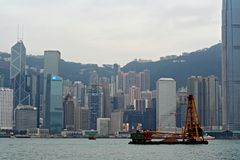 Hong- KongSkyline Stockfoto
