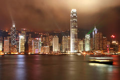 Hong- KongSkyline Stockbilder