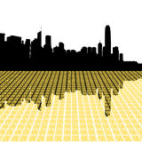 Hong- KongSkyline mit Stadt Stockfotos