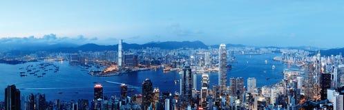 Hong- KongSkyline nachts Stockfoto