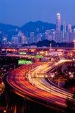 Hong- KongSkyline-Verkehr Lizenzfreies Stockbild