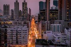 Hong- Kongsonnenuntergang lizenzfreies stockfoto