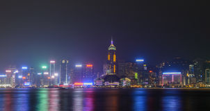 Hong- Kongstadt-Skyline Stockbilder