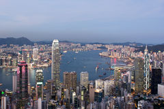Hong- Kongstadt-Skyline Lizenzfreies Stockfoto