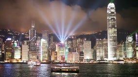 Hong- Kongsymphonie der Leuchten stock footage