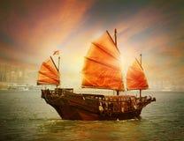 Hong- Kongtrödelboot stockfoto