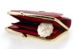 Hong kongu dolara czerwono portfel. Zdjęcie Royalty Free
