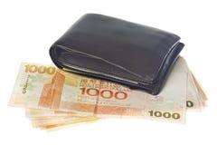 Hong kongu waluty portfel. Obrazy Stock