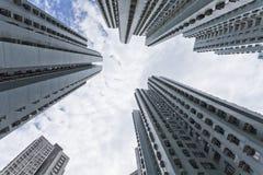 Hong- Kongwohnungen am Tag stockbilder