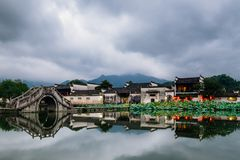 Hong village,Yixian county, anhui province, China stock images
