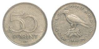 50 Hongaars forintmuntstuk Royalty-vrije Stock Foto