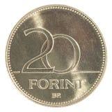 20 Hongaars forintmuntstuk Stock Afbeeldingen