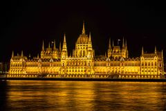 Hongaars Parlementsgebouw Royalty-vrije Stock Foto