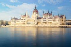 Hongaars Parlementsgebouw - Boedapest Royalty-vrije Stock Afbeelding