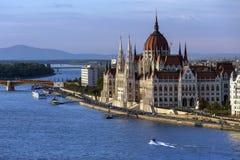 Hongaars Parlementsgebouw - Boedapest - Hongarije Royalty-vrije Stock Afbeelding