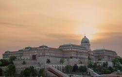 Hongaars Royal Palace, Boedapest, Hongarije Stock Foto's