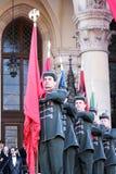 Hongaarse gonfaloniers Stock Foto's