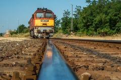 Hongaarse M62 locomotief Stock Foto's