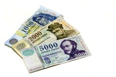 Hongaarse nota's Stock Foto's