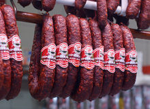 Hongaarse salame Stock Fotografie