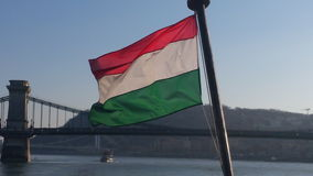 Hongaarse vlag Stock Afbeelding