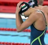 Hongaarse zwemmer Zsuzsanna JAKABOS HUN Stock Afbeelding