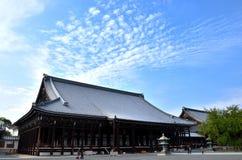 Honganji temple and blue sky, Kyoto Japan Royalty Free Stock Image