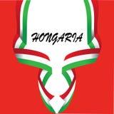 HONGARIA国旗的设计元素-传染媒介 库存例证