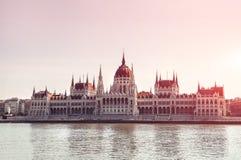 hongarije Het Parlement van Boedapest mening De reis van Europa Stock Foto's