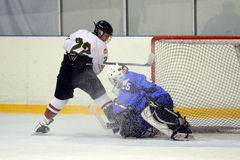 Hongarije - Italië onder 16 icehockeyspel Royalty-vrije Stock Afbeeldingen