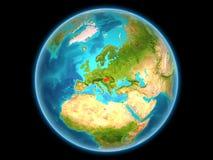 Hongarije op aarde Stock Foto's