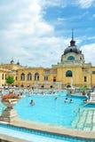 Hongarije: Szechenyi bath spa in Boedapest Royalty-vrije Stock Foto's