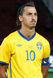 Hongarije versus de voetbalspel van Zweden Royalty-vrije Stock Afbeelding
