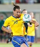Hongarije versus de voetbalspel van Zweden Royalty-vrije Stock Foto