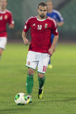 Hongarije versus de voetbalwedstrijd van Andorra Royalty-vrije Stock Afbeeldingen